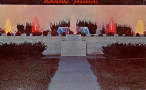 DE - Rehoboth Beach. Lighted Fountains