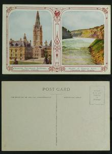 Canada Parliament buildings, Niagara Falls rapids c1909