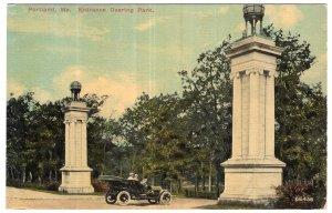 Portland, Me, Entrance Deering Park