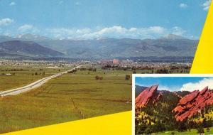 Boulder Colorado Denver Turnpike Multiview Vintage Postcard K62554