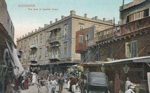 ALEXANDRIE , Egypt , 1900-1910´s ; Rue dans le Quartier Arabe
