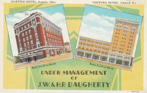 JW & HP Daugherty Hotels , 1910s