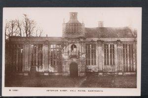 Northamptonshire Postcard - Interior of Kirby Hall Ruins   RS19269