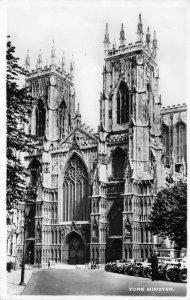 Vintage North Yorkshire Real Photo Postcard, York Minster GM8