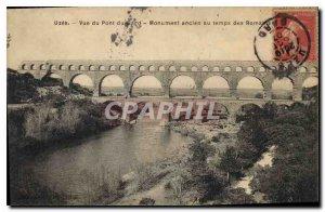 Old Postcard View Uzes Pont du Gard old monument to Roman times