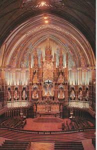 Canada Quebec Montreal Main Altar Notre Dame Church