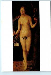 Albrecht Durer Eve Eva Nude Nudity Adam and Eve Vintage 4x6 Art Postcard D96