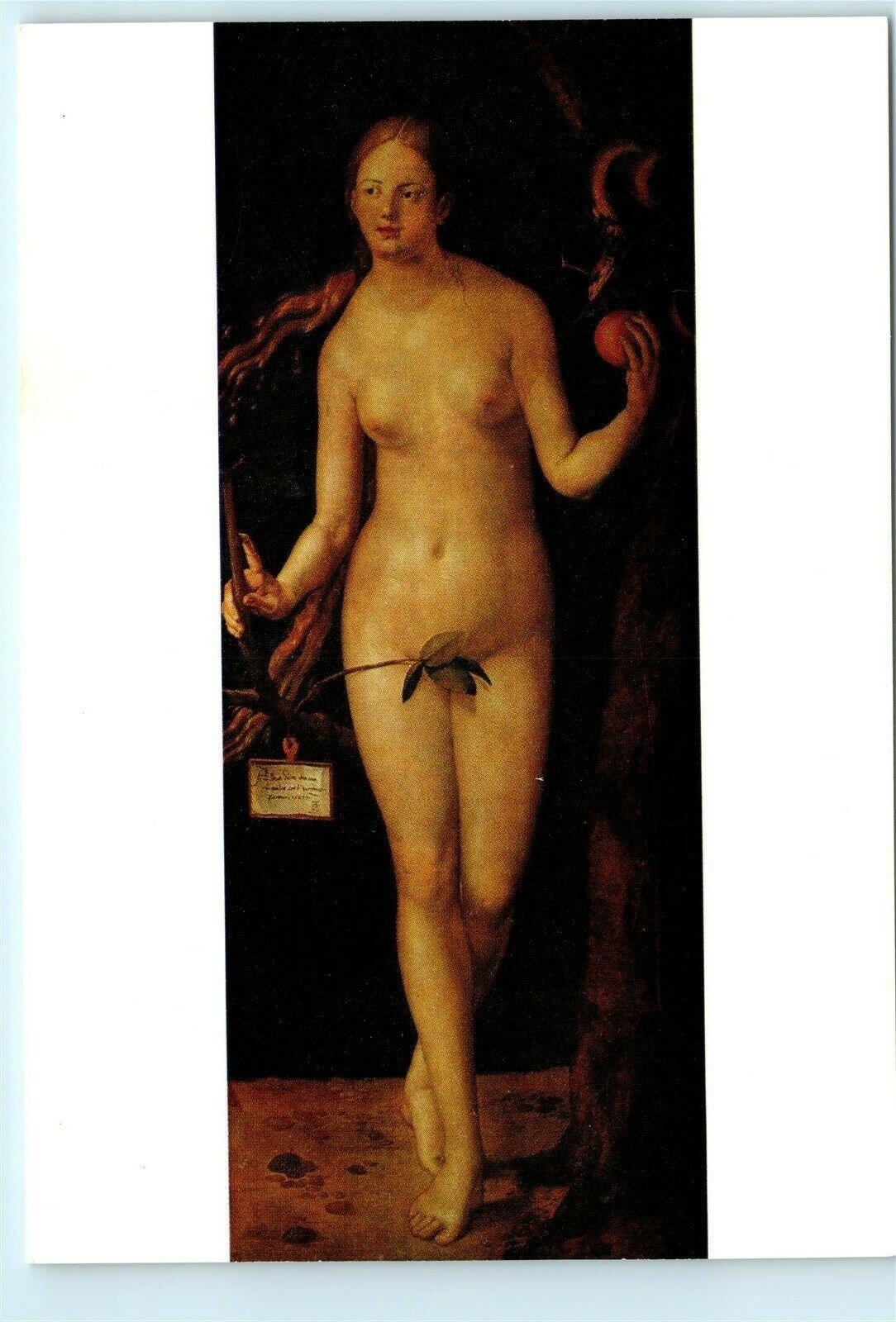 Eve Nude albrecht durer eve eva nude nudity adam and eve vintage 4x6