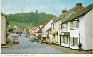 Post Card Somerset DUNSTER Conygar Tower and Yarn Market