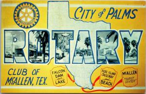 Rotary Club McAllen Texas City of Palms Multi View Form Letter Postcard M02