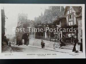 WARWICK - LEICESTER HOSPITAL & West Gate c1915 RP by Davidson Bro 5056-5