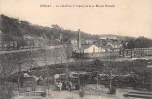 EPINAL VOSGES FRANCE~LA MOSCLIE et le CANAL pris de la MAISON ROMAINE POSTCARD