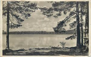 Sweden Smålands Smalands Taberg lake real photo postcard