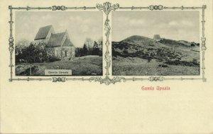 sweden, UPSALA, Stone Church of Gamla Uppsala (1900s) Postcard