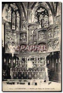 Old Postcard Kaysersberg Altarpiece By Hans Coimar