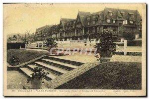 Old Postcard Deauville La Plage Fleurie Normandy Hotel and Boulevard Cornuche