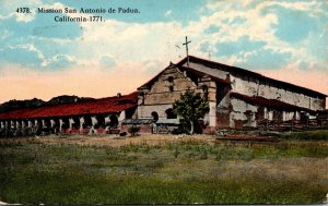 California Mission San Antonio de Padua 1920 Curteich