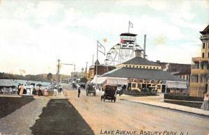 Asbury Park New Jersey Lake Avenue Street Scene Antique Postcard K88940