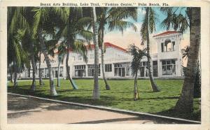 Palm Beach Florida~Beaux Arts Building~Lake Trail Fashion Center~Palm Trees 1940