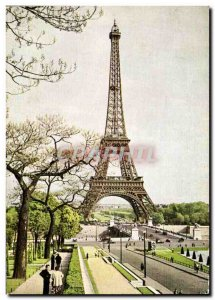 Modern Postcard Paris Eiffel Tower (1887 1889) General view