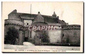 Postcard Old Nantes Chateau des Ducs de Bretagne The Entree