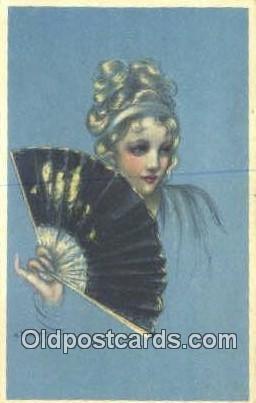 Artist Adelina Zandrino Postcard Post Card Old Vintage Antique Series 17-3 1922