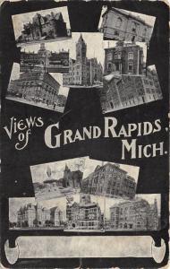Grand Rapids Michigan~10 Views~Vintage 1909 Postcard