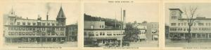 Tri-Fold Postcard Of 3 Hotels, 1925 thru 1927 White River Junction, VT