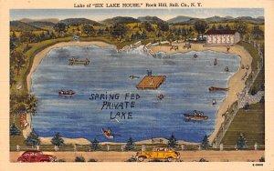 Lake of Six Lake House Rock Hill, New York Postcard