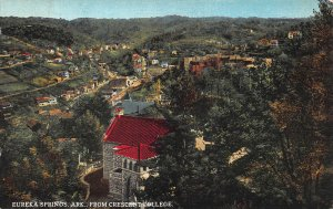 Crescent College, Eureka Springs, Arkansas, Early Postcard, Used in 1935