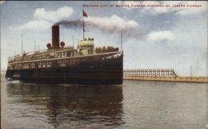 St. Joseph MI Steamers Benton Harbor c1910 Postcard