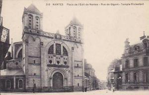 Place De l'Edit De Nantes, Rue De Gigant, Temple Protestant, Nantes (Loire At...