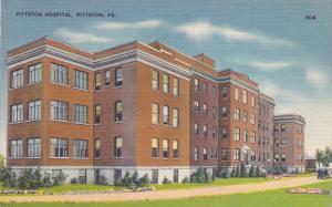 PITTSTON, Pennsylvania, 19030-1940's; Pittston Hospital