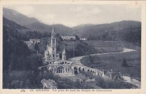 France Lourdes Vue prise du haut du Donjon du Chateau fort