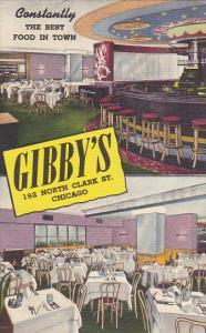 Illinois Chicago Gibby's Restaurant & Lounge Curteich