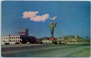 Wendover, Nevada Postcard STATE LINE SERVICE Hotel Café Gas Casino Roadside