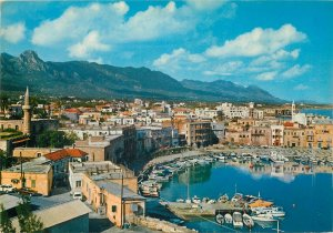 Post card Cyprus Kyrenia general city view and harbor aspect