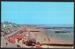 New Jersey ~ CAPE MAY Boardwalk looking East - pm1957 1950s-1970s