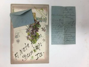 A Note From Dunlap IA Postcard with Note