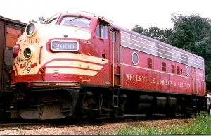 Trains Wellsville Addison & Galeton F7 Locomotive #2000