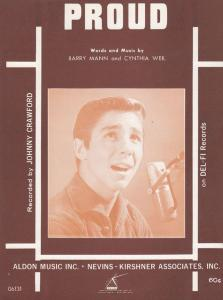 Proud Johnny Crawford 1960s Sheet Music