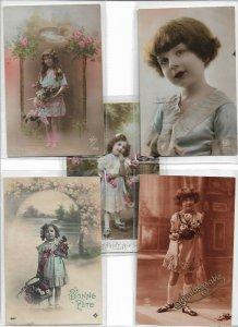 Jugendstil Gorgeous Kids RPPC Postcard Lot of 10 01.10