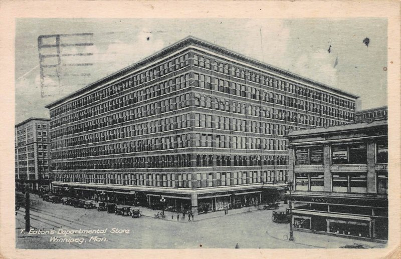 Eaton's Dept. Store, Winnepeg, Manitoba, Canada, Early Postcard, used in 1926