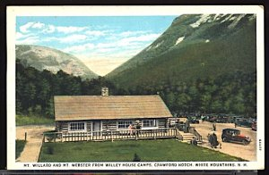 USA Postcard Mt Willard & Mt Webster Wiley House Camps Crawford Notch NH