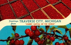 Michigan Traverse City Greetings From The Cherry Capitol Of The World
