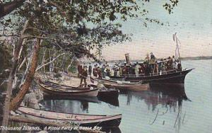Boats, A Picnic Party At Goose Bay, Thousand Islands, Ontario, Canada, PU-1907