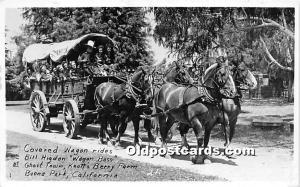 Covered Wagon Rides, Bill Higdon Wagon Boss Knott's Berry Farm, Buena Park, C...