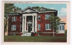 Benevolent Society Hospital Albany Alabama 1920c postcard