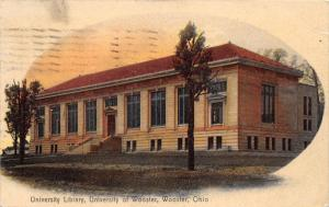 Wooster Ohio~University of Wooster Library~Picture in Oval~1908 Rotograph Pc