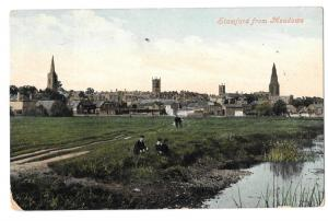 Stamford From Meadows, PPC,Ilford  1915 PMK Docks Shipping Harbour Hotel